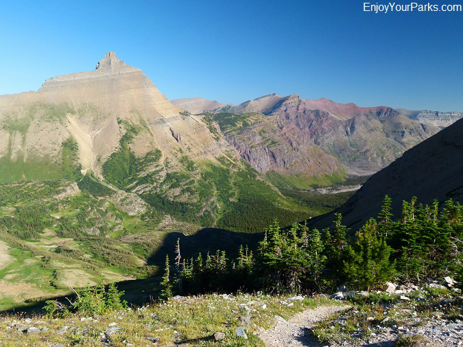 View of Hudson Bay Creek Valley from Triple Divide Pass, Glacier National Park