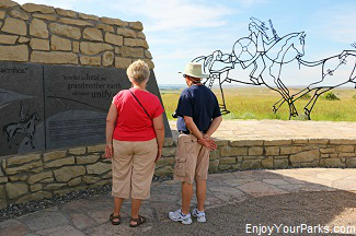 Indian Memorial, Little Bighorn Battlefield National Monument Montana