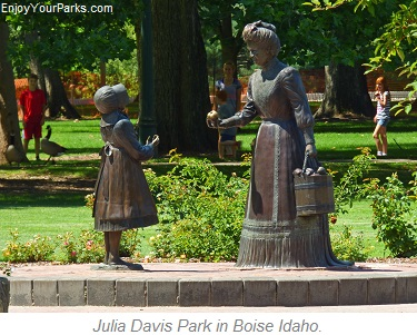 Julia Davis Park in Boise Idaho