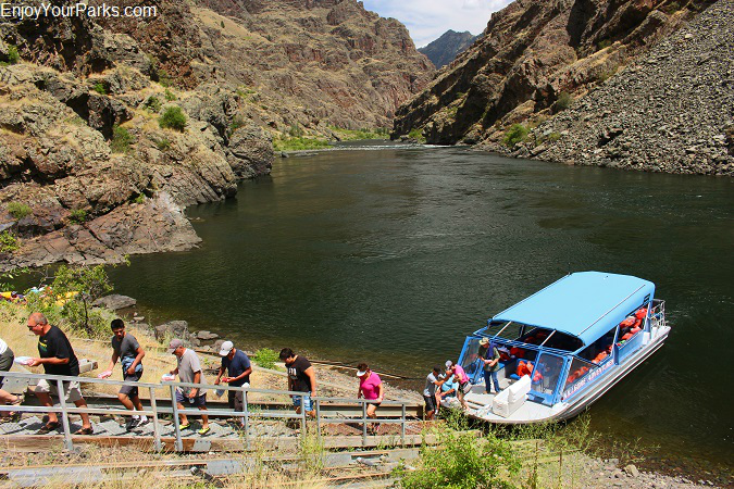 Jet boat tour, Hells Canyon National Recreation Area