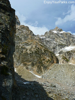 View of Mount Owens from base of Disappointment Peak, Amphitheater Lake, Grand Teton National Park