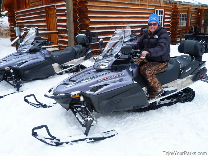 Snowmobiling in Island Park Idaho, Yellowstone National Park