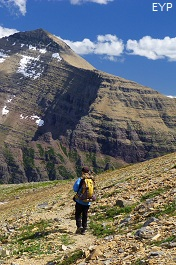Rising Wolf Mountain, Dawson Pass Trail - Pitamakan Pass Trail Loop, Glacier National Park
