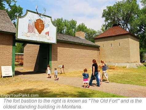 Fort Benton bastion, the oldest standing building in Montana