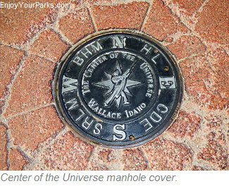 Center of the Universe manhole cover, Wallace Idaho