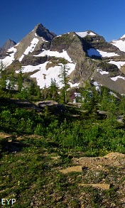 Mount Peabody, Boulder Pass Trail, Glacier National Park