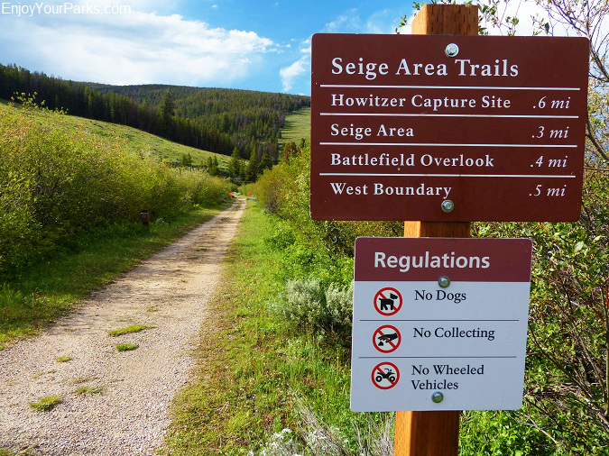 Trailhead to the Seige Area, Big Hole Battlefield Montana