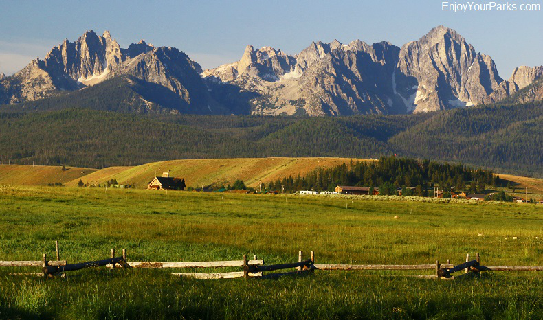 Sawtooth Mountains near Stanley Idaho