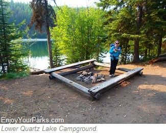 Lower Quartz Lake Campground, Glacier National Park