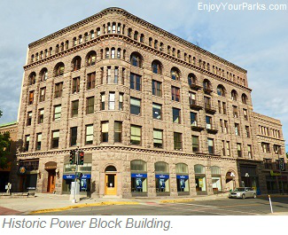 Helena Historic District, Power Block Building, Last Chance Gulch