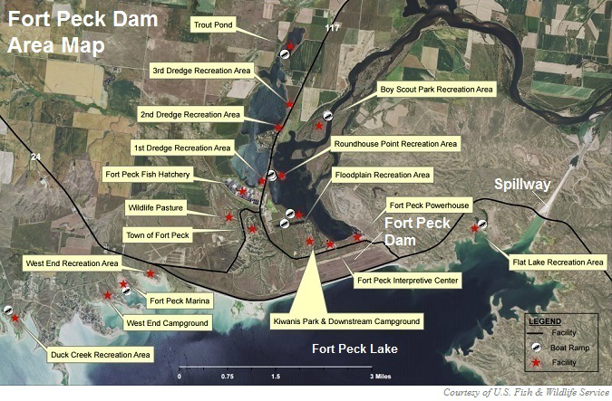 Fort Peck Dam Area Map
