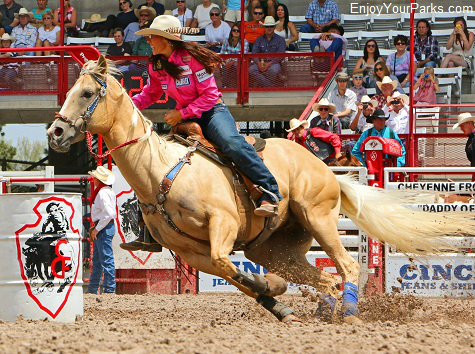 Barrel Racer, Cheyenne Frontier Days Rodeo, Wyoming
