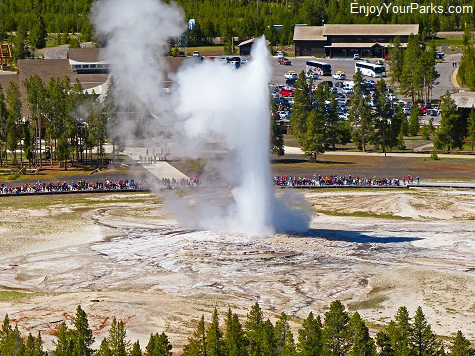 Old Faithful Geyser, Yellowstone National Park Montana