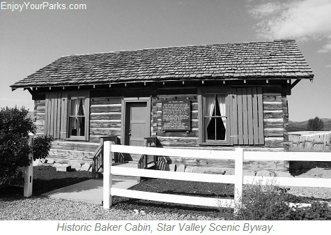 Historic Baker Cabin, Star Valley Scenic Byway, Wyoming