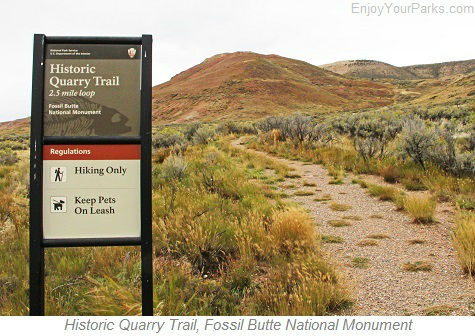 Historic Quarry Trail, Fossil Butte National Monument, Wyoming