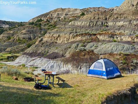 Campground, Makoshika State Park Montana