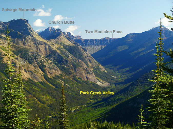 Park Creek Valley as viewed from the Scalplock Lookout, Glacier National Park