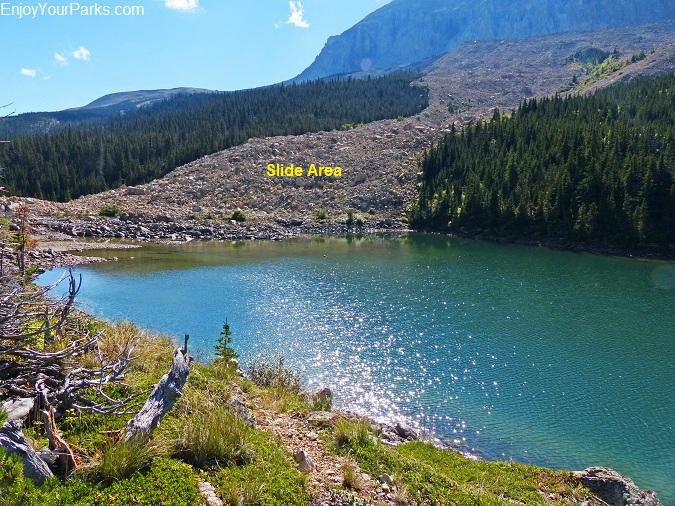 Lower Slide Lake, Glacier National Park