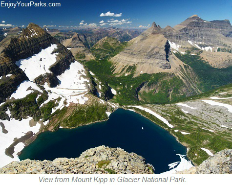 Summit view from Mount Kipp, Glacier National Park