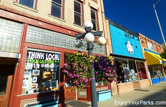 Downtown Kalispell Montana near Flathead Lake