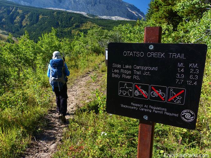 Slide Lake Trail, Otatso Creek Trail, Glacier National Park