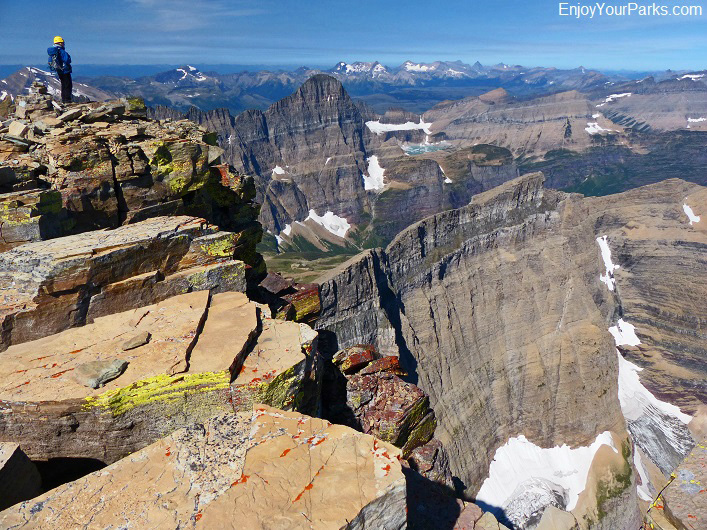 Mount Siyeh summit view, Glacier National Park