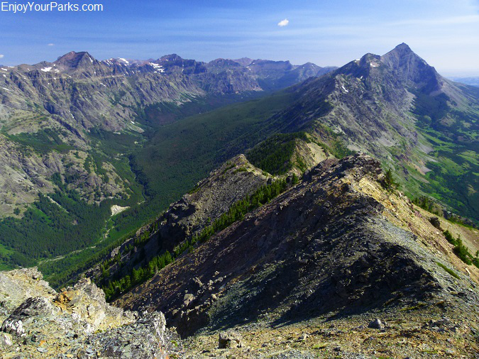 Elk Mountain summit view, Glacier National Park.
