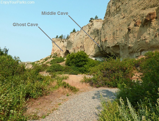 Ghost Cave and Middle Cave, Pictograph Cave State Park Montana
