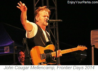 John Cougar Mellencamp performing at Cheyenne Frontier Days 2014