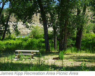 James Kipp  Recreation Area Picnic Area