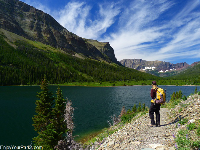 :Poia Lake, Red Gap Pass Trail, Glacier National Park