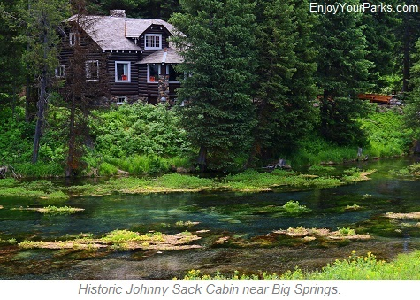 Johnny Sack Cabin, Big Springs near Island Park Idaho