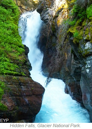 Hidden Falls, Many Glacier Area, Glacier National Park