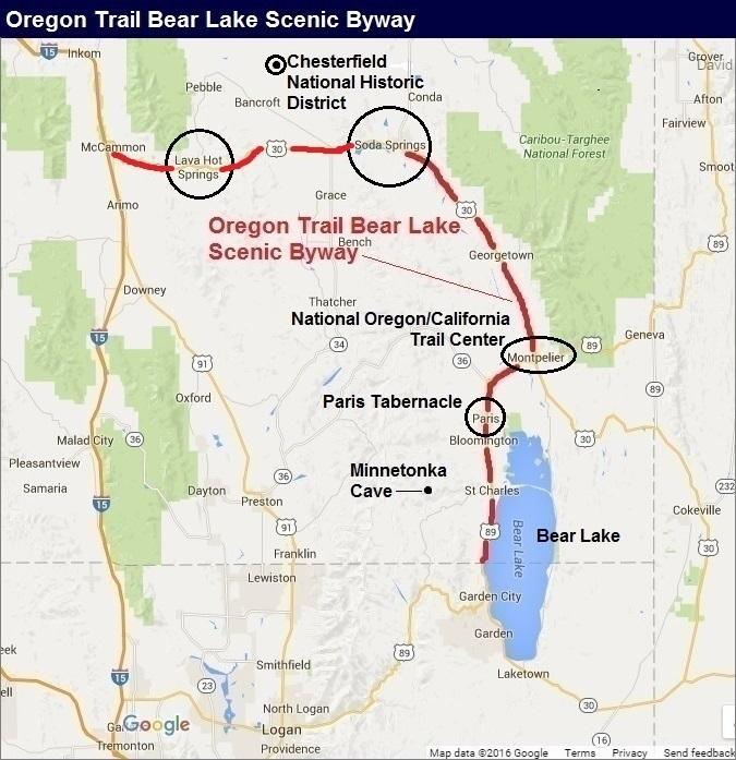 Oregon Trail Bear Lake Scenic Byway, Idaho