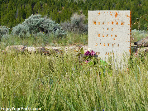 William and Clara Daltons Tombstone on Boot Hill, Virginia City Montana