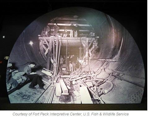 Fort Peck Dam Construction
