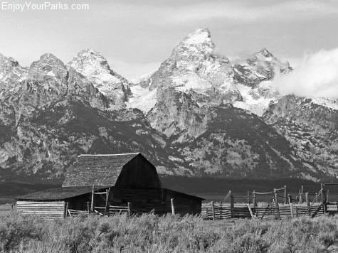 John Moulton Barn and Teton Range, Grand Teton National Park