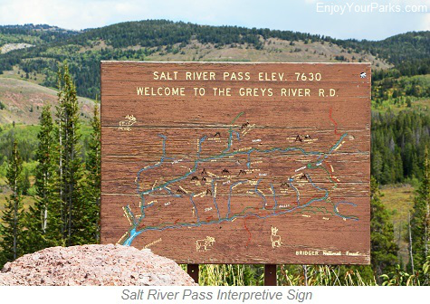 Salt River Pass Interpretive Sign, Star Valley Scenic Byway, Wyoming