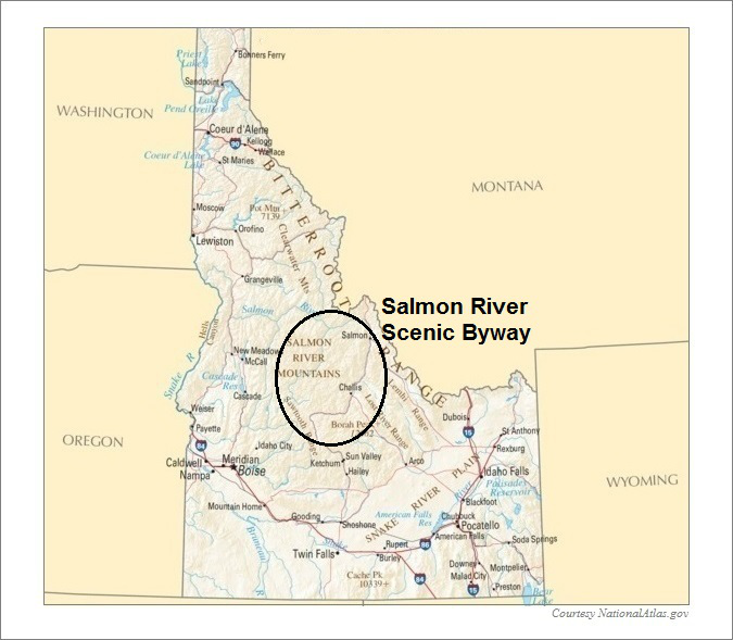 Idaho Map- Salmon River Scenic Byway