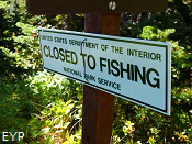 Slide Lake Closed To Fishing, Glacier National Park