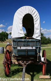 Covered wagon, Fort Laramie National Historic Site, Wyoming