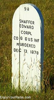 Grave marker, Fort Abraham Lincoln State Park, North Dakota