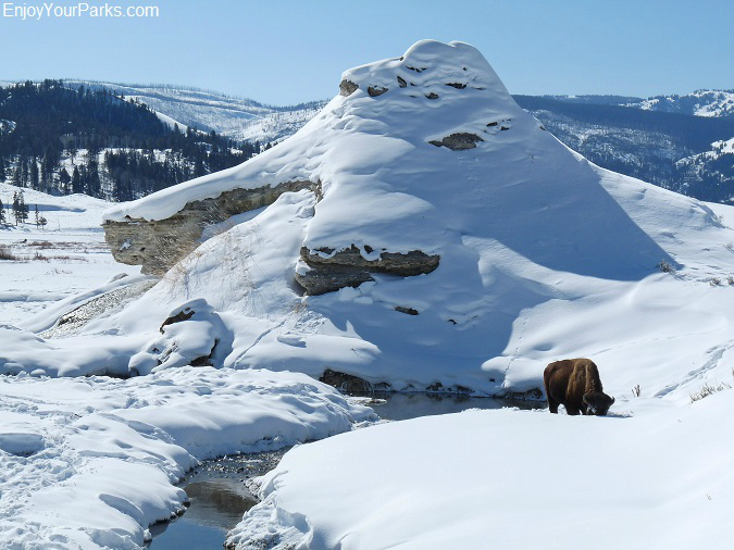 Soda Butte, Winter in Yellowstone Park