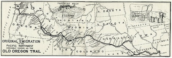 Old Oregon Trail Map, Courtesy University of Texas Libraries