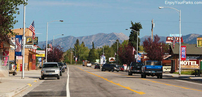 Downtown Thayne Wyoming, along the Star Valley Scenic Byway.