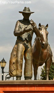 Cowboy Statue, Thermopolis Wyoming
