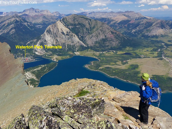 Vimy Peak summit view, Waterton Lakes National Park