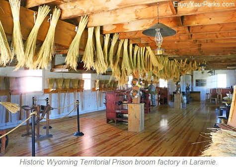 Historic Wyoming Territorial Prison broom factory, Laramie Wyoming