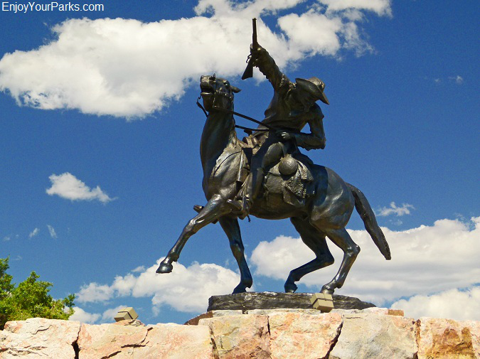 Buffalo Bill Cody Statue at the Buffalo Bill Historical Center, Cody Wyoming, Yellowstone National Park
