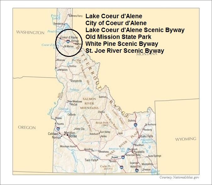 Idaho Map, Teton Scenic Byway